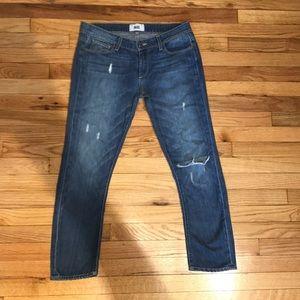 Boyfriend Jeans Distressed sz 27 Riley Knee Capri